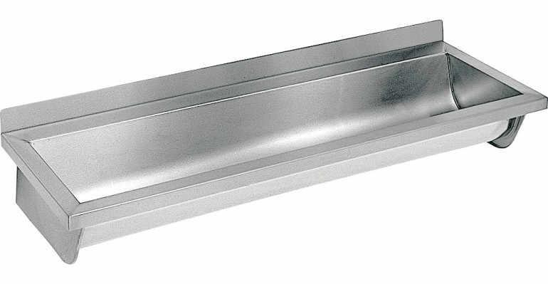 Umywalka d�uga umywalka wielostanowiskowa umywalka rynnowa 3000 x 400 x 160 mm / lewa ECN 30 L