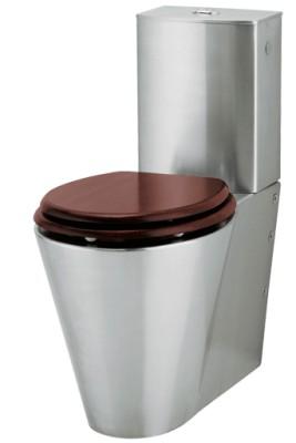 Toaleta ze stali nierdzewnej stojąca Intra WCK 4