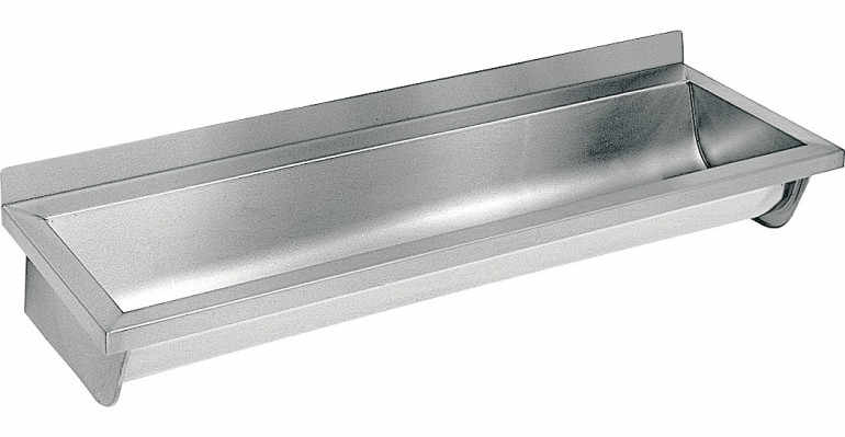 Umywalka ze stali nierdzewnej ECN 6 L- 60 cm lewy odpływ