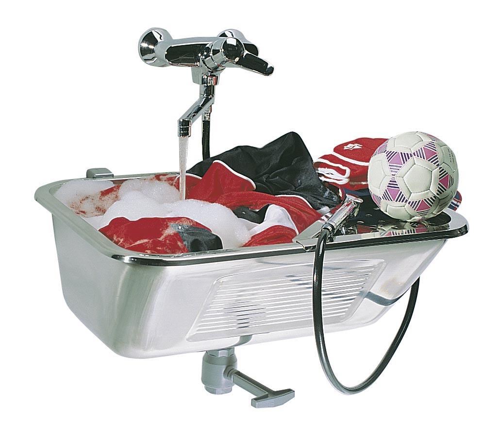 Komora gospodarcza / Zlew  gospodarczy VK 44 + głowica z zaworem kulowym i syfonem chromowanym /  Komora pralnicza / zlew do pralni