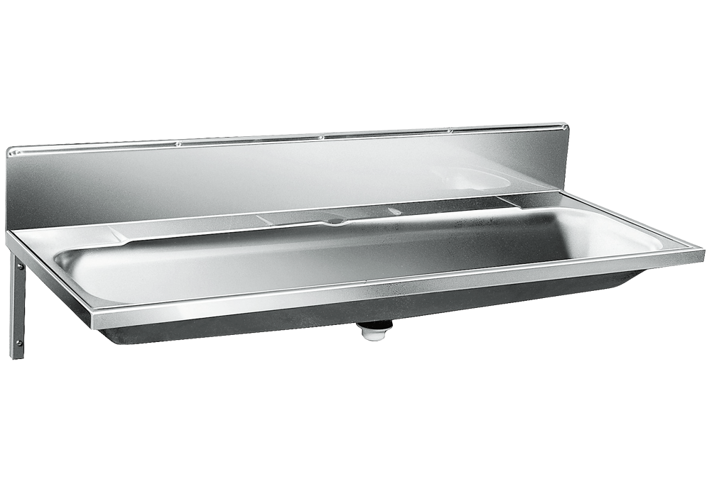 Umywalka d�uga wielostanowiskowa umywalka rynnowa P 120 V z panelem