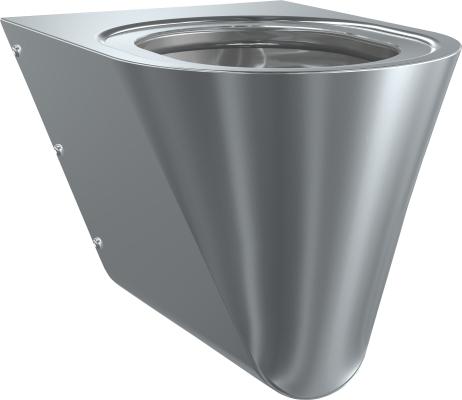 Toaleta ze stali nierdzewnej WC ścienna CMPX 592 stal nierdzewna bez deski